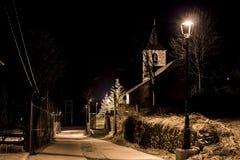 Vue de l'église la nuit Photo libre de droits