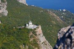 Vue de l'église orthodoxe Foros en Crimée Images libres de droits