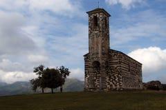 Vue de l'église de San Michele de Murato Photo libre de droits