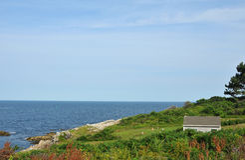 Vue de l'île de Baker Photographie stock