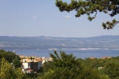 Vue de l'île de KRK, Croatie Photo libre de droits