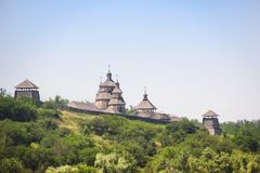 Vue de l'île de Khortytsya de la rivière de Dnieper Photo stock