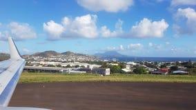 Vue de l'île de la Sainte-Lucie de l'avion photo libre de droits