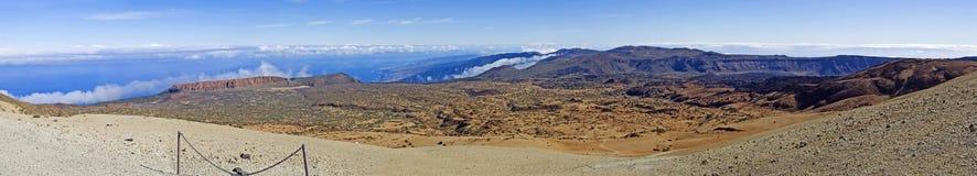 Vue de l'île de Ténérife 3 000 kilomètres de long photographie stock