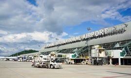 Vue de l'aéroport à Penang, Malaisie Images libres de droits