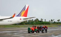 Vue de l'aéroport dans Kalibo, Philippines Photos stock