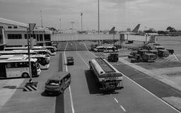 Vue de l'aéroport de Tan Son Nhat dans Saigon, Vietnam Images libres de droits