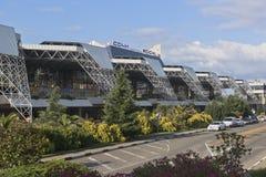 Vue de l'aéroport international de bâtiment de Sotchi, Adler, région de Krasnodar, Russie Images libres de droits