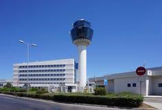 Vue de l'aéroport international Eleftherios Venizelos ATH d'Athènes Image stock