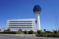 Vue de l'aéroport international Eleftherios Venizelos ATH d'Athènes Photos stock