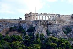 Vue de l'Acropole image libre de droits