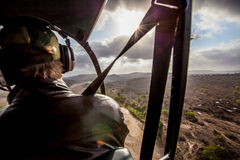 Vue de l'Afrique d'un hélicoptère Photo libre de droits