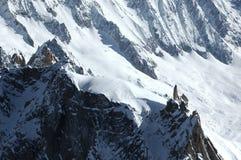 Vue de l'Aiguille du Midi Photographie stock libre de droits