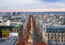 Vue de l'arc de Triumphe à Paris Image stock