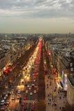 Vue de l'arc de Triumphe à Paris Photos libres de droits