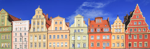 Vue de l'architecture historique rénovée image stock