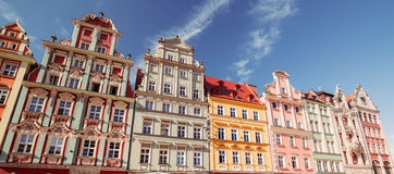 Vue de l'architecture historique rénovée Photographie stock libre de droits