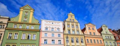 Vue de l'architecture historique rénovée Images libres de droits