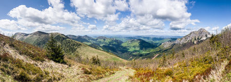 Vue de l'arête de montagne Photo libre de droits