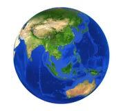 Vue de l'Asie de globe de la terre d'isolement illustration stock