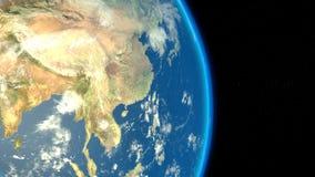 Vue de l'Asie de l'espace illustration libre de droits