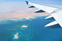 Vue de l'avion Image libre de droits