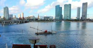 Vue de l'eau à Miami Image stock