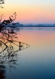 Vue de l'eau calme, Ukraine Image libre de droits