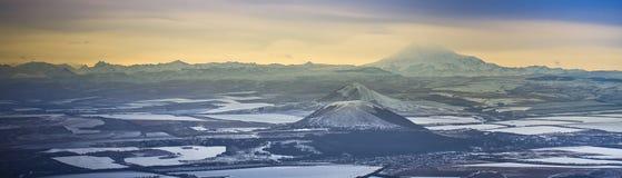 Vue de l'Elbrus Images libres de droits