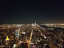 Vue de l'Empire State Building la nuit Photographie stock libre de droits