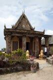 Vue de l'entrée de Wat Sampov Pram images libres de droits
