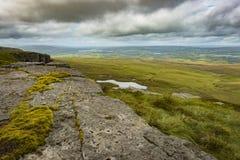 Vue de l'escalier au ciel à la montagne de Cuilcagh à partir du dessus Photos libres de droits