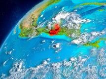 Vue de l'espace du Guatemala en rouge Image libre de droits