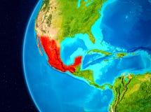 Vue de l'espace du Mexique en rouge Photos libres de droits