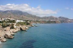 vue de l'Espagne de mer de nerja Photographie stock libre de droits