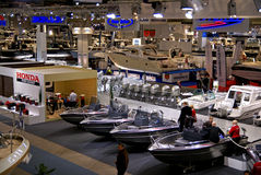 Vue de l'exposition 2009 d'exposition de bateau de Helsinki hall Image libre de droits