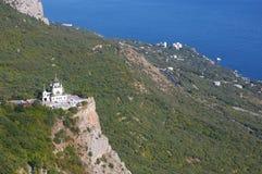 Vue de l'église orthodoxe Foros en Crimée Image libre de droits