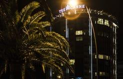 Vue de l'hôtel de nuit Photos stock