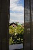 Vue de l'hôtel, Nyangshwe Image stock