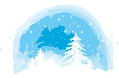 Vue de l'hiver Photographie stock libre de droits