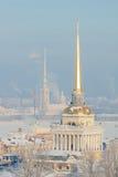 Vue de l'hiver de St Petersburg Photos libres de droits