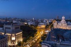 Vue de l'horizon, Madrid, Espagne image libre de droits