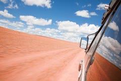 Vue de l'hublot d'un SUV Photographie stock libre de droits