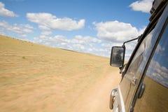 Vue de l'hublot d'un SUV Photo libre de droits