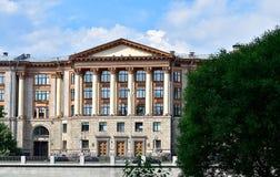 Vue de l'institut d'état de l'ingénierie complexe, St Petersbourg, Russie Images libres de droits