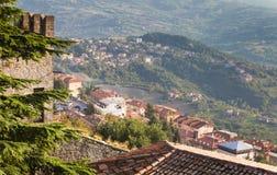 Vue de l'Italie de Monte Titano Images stock