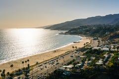 Vue de l'océan pacifique dans Pacific Palisades, la Californie Photo libre de droits