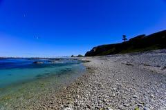 Vue de l'océan pacifique de kaikoura images libres de droits