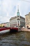Vue de l'usine de couture appelée V Volodarsky, St Petersburg, Russie Image libre de droits