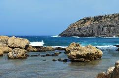 Vue de la baie d'Anthony Quinn Photographie stock libre de droits